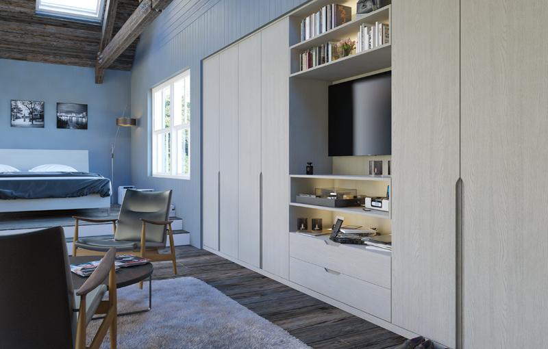 Bella Integra Oakgrain Grey Bedroom