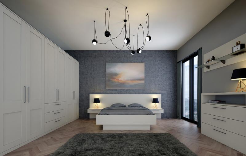Bella Shaker Matt Dove Grey Bedroom