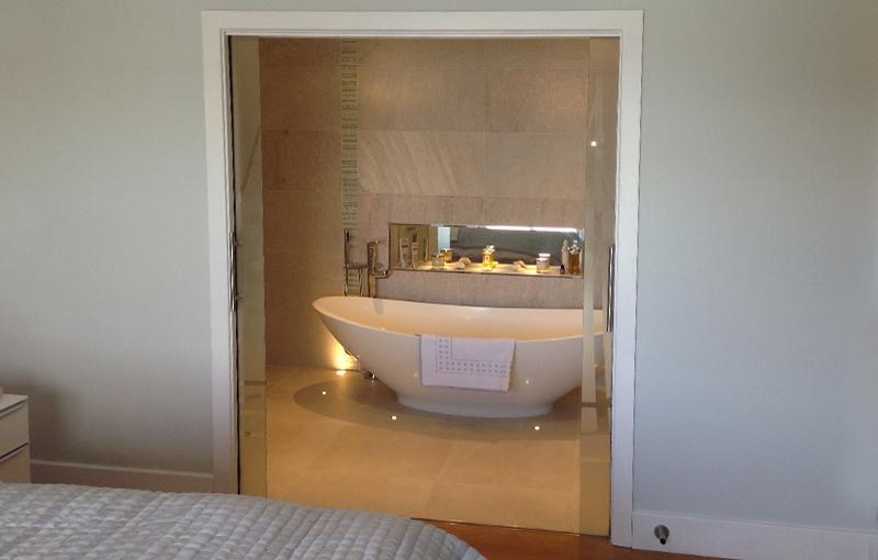 Bespoke feature bathroom shelving