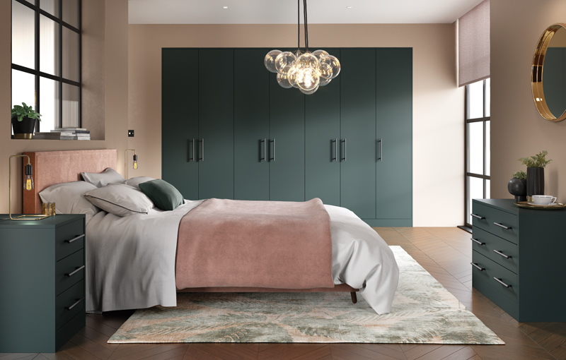 Zurfiz Serica Matt Kombu Green Bedroom